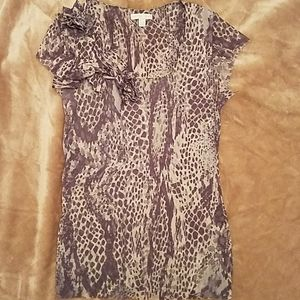 Women's Large animal print short-sleeved top